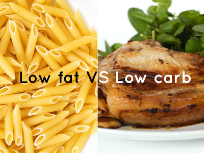 Low carb diet improves glycemic control... compared with advice to follow a low-fat diet