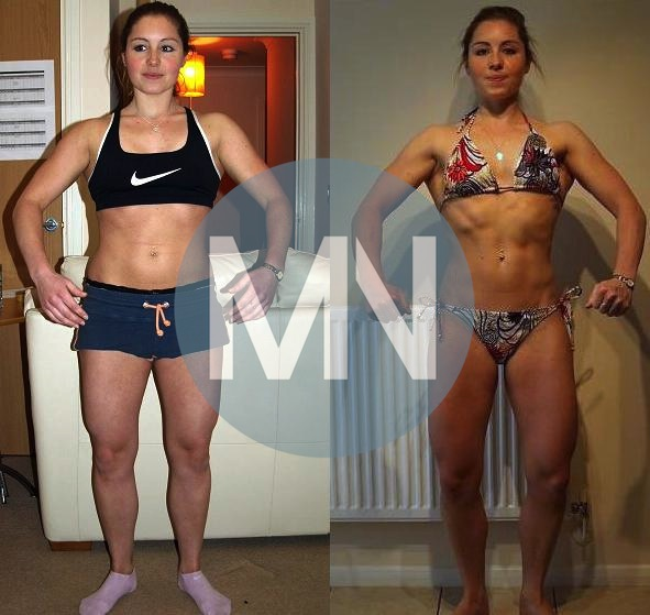 Female bodybuilding nutrition before and after