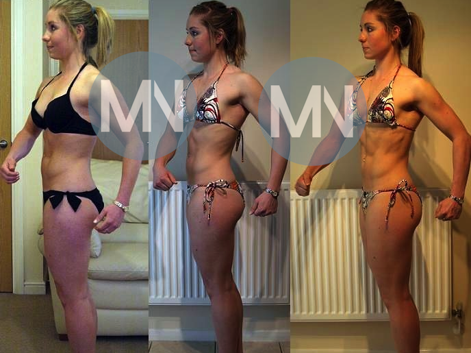 Female phyisque before and after nutrition