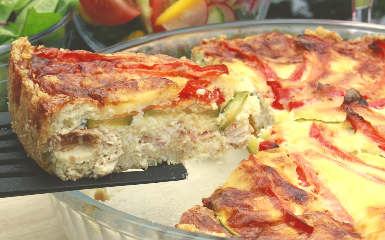 Healthy Quiche with chicken