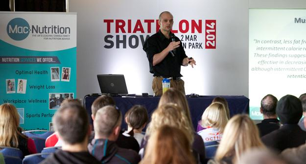 Triathlon Show 2014 Martin Speaking
