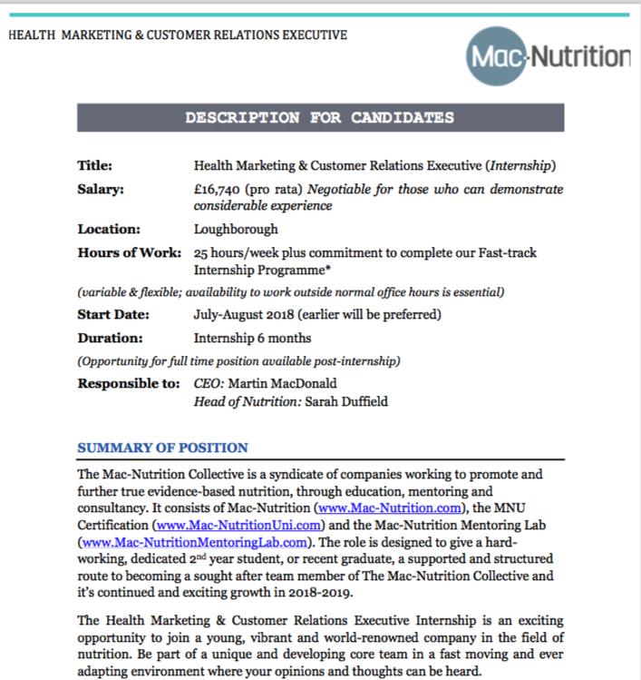 Health Marketing & Customer Relations Executive Image